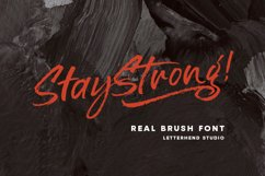 Stay Strong - Dry Brush Font Product Image 1