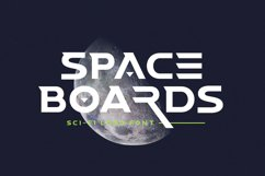 Space Boards - Sci-Fi Logo Font Product Image 1