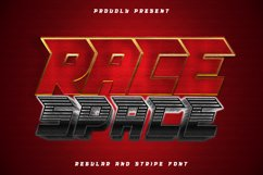 Race Space - a bold and eye catching display font Product Image 1