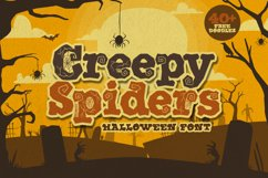 Creepy Spiders Free Doodles Product Image 1