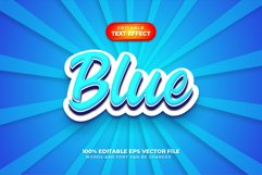 Blue 3D Text Style Effect, Editable Text Style Product Image 1