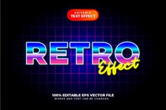 80s Retro Text Style Effect, Editable Text Style Product Image 1