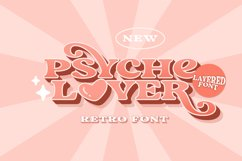 Psyche Lover - Layered Retro Font Product Image 2