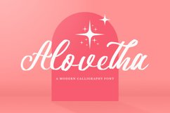 Alovetha - Brush Script Font Product Image 1