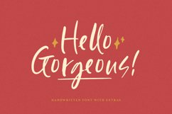 Hello Gorgeous - Handwritten Font Product Image 1