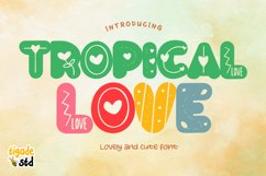Tropical Love - Lovely Decorative Font for Crafting Product Image 1