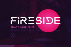 Fireside - Sharp Logo Font Product Image 1