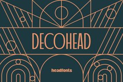 Decohead Art Deco Font Product Image 1