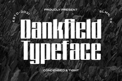 Dankfield - Modern Condensed Font Product Image 1