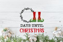 Christmas Countdown, Advent Calendar SVGs, Xmas countdown Product Image 2