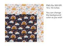 Fall Rainbow Seamless Pattern - Autumn Pattern Design Product Image 2