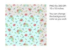 Watercolor Christmas Rainbow Seamless Pattern - Xmas Pattern Product Image 2