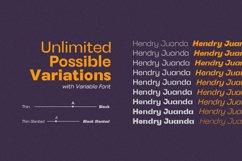 Henju Sans - Variable Font Product Image 2