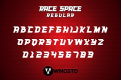Race Space - a bold and eye catching display font Product Image 3