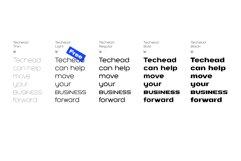 Techead sans serif font family Product Image 2