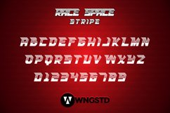 Race Space - a bold and eye catching display font Product Image 2