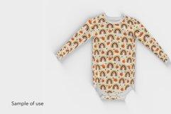 Fall Rainbow Seamless Pattern - Pumpkin Pattern Design Product Image 2
