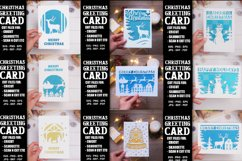 9 Christmas greeting cards SVG template,Merry Christmas card Product Image 2