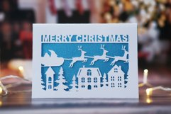 9 Christmas greeting cards SVG template,Merry Christmas card Product Image 3