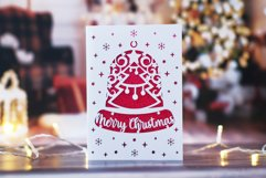 9 Christmas greeting cards SVG template,Merry Christmas card Product Image 6