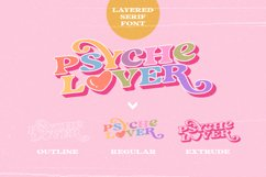Psyche Lover - Layered Retro Font Product Image 4