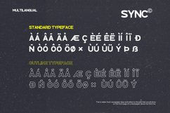 SYNC - Modern Sans Serif Font Product Image 5