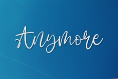 Anymore - A Fun Script Font. Product Image 1