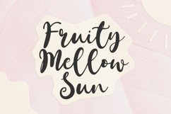Fruity Mellow Sun - A Lovely Script Font Product Image 1