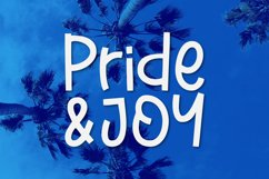 Pride And Joy - A Fun Handwritten Font Product Image 1