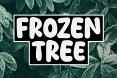 Frozen Tree - A Bold And Joyful Display Font. Product Image 1