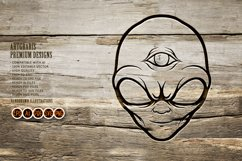 Alien Head Simple Silhouette Product Image 5