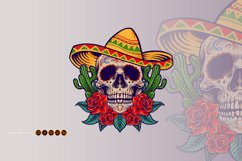 Cinco de Mayo Mexican Skull Logo Mascot Product Image 5