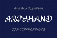 Artyhand calligraphy font Product Image 1