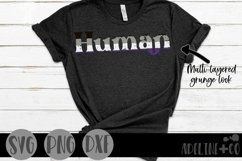 Human   Asexual, Pride, SVG, PNG, DXF Product Image 1