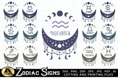 Zodiac Signs SVG Bundle Celestial SVG Astrology Horoscope Product Image 1