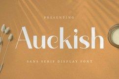 Web Font Auckish - Display Font Product Image 1