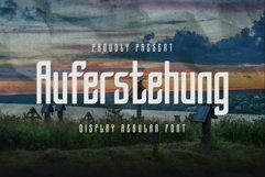 Web Font Auferstehung - Display Font Product Image 1