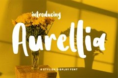 Web Font Aurellia - A Stylish Display Font Product Image 1