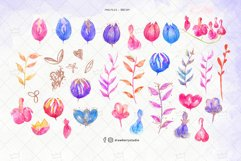 Glam Glitter Flowers Clipart| Drawberry CP074 Product Image 2