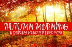 Web Font Autumn Morning - A Quirky Handlettered Font Product Image 1