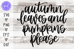 Autumn Leaves and Pumpkins Please Hand-Drawn Cut File Product Image 1