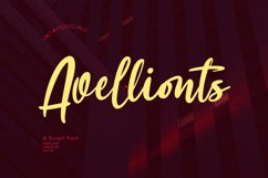 Avellionts Script Display Font Product Image 1