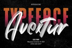 Avextur SVG Brush Font Product Image 1