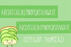 Avocado Toast Font Glyphs- Handwritten Font True Type and Open Type font