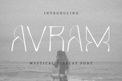 Web Font Avram Font Product Image 1