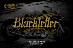 Crosshead - Blackletter Tattoo Font Product Image 2