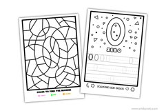 Color and learn the numbers | printable activity for kids. Product Image 2