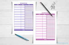 Set of inventory KDP notebooks in 7 colors and 1 in grey. Product Image 3