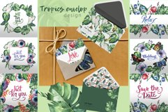 Tropics leaves JPG watercolor set Product Image 4