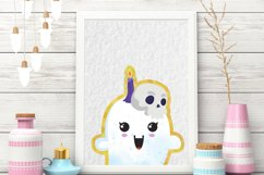 Cute Halloween Clipart, Halloween clipart, ghost clipart Product Image 6